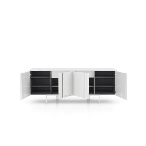 Mott Glossy White Sideboard, image 9