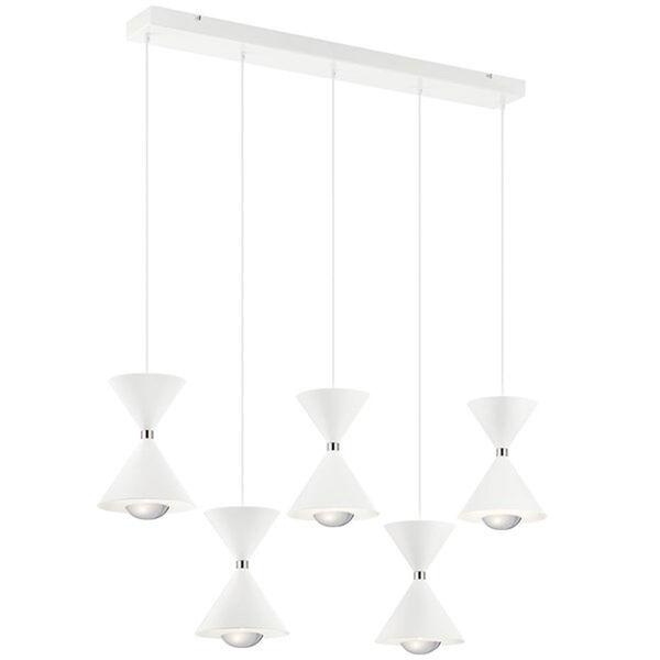Kordan Matte White LED Mini Chandelier, image 1
