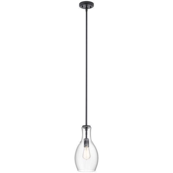 Everly Black 14-Inch One-Light Mini Pendant, image 1