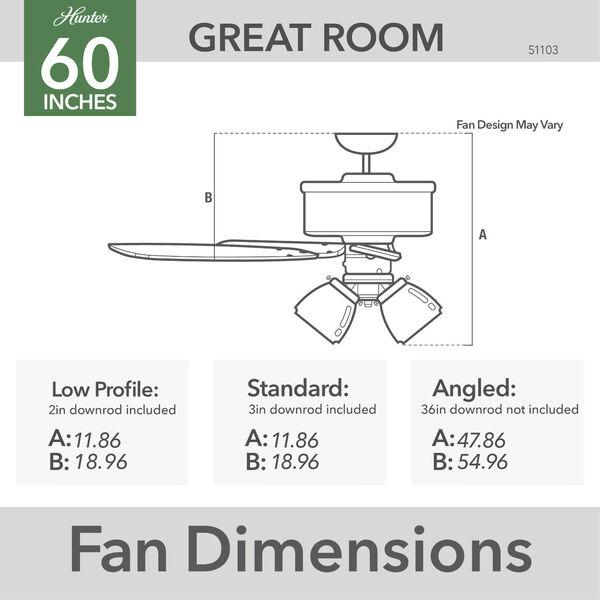 Crestfield Fresh White 60-Inch LED Ceiling Fan, image 7