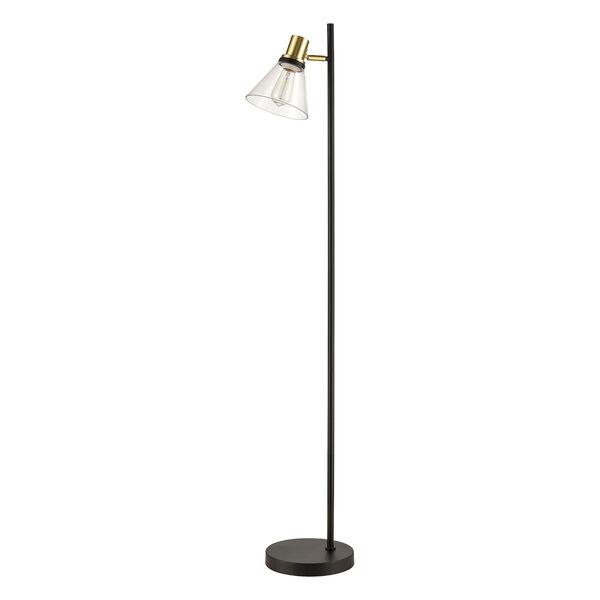 Treno Black and Gold One-Light Floor Lamp, image 2