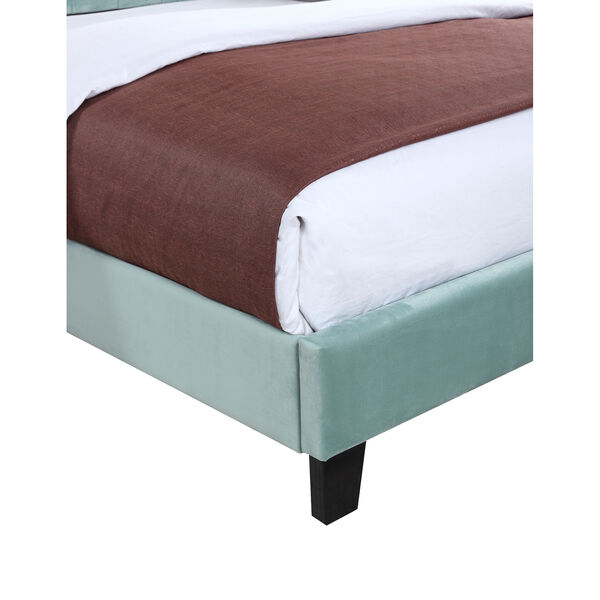 Linden Twin Light Blue Twin Upholstered Bed, image 5