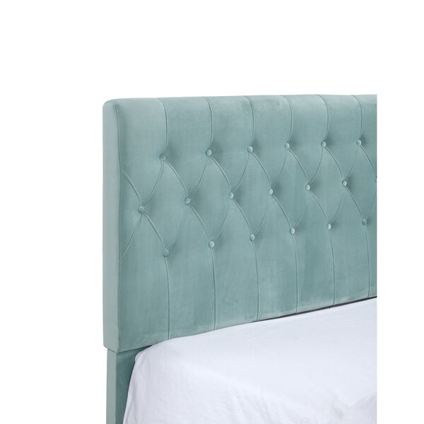Linden Twin Light Blue Twin Upholstered Bed, image 6