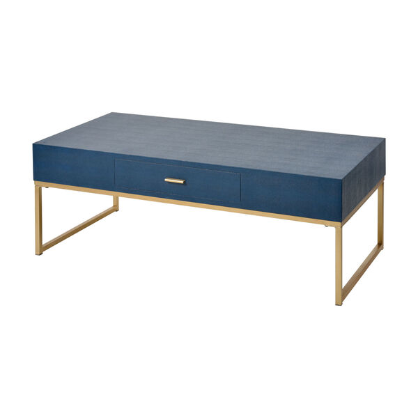 Les Revoires Navy Blue with Gold Coffee Table, image 1