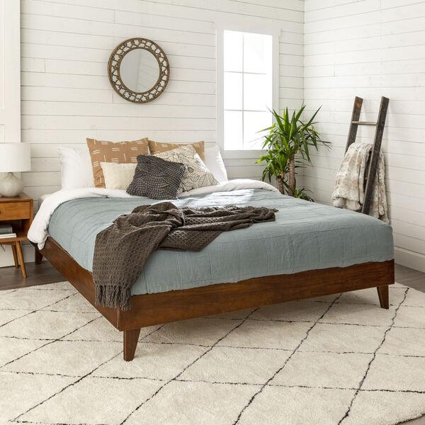 Walnut King Platform Bed, image 3
