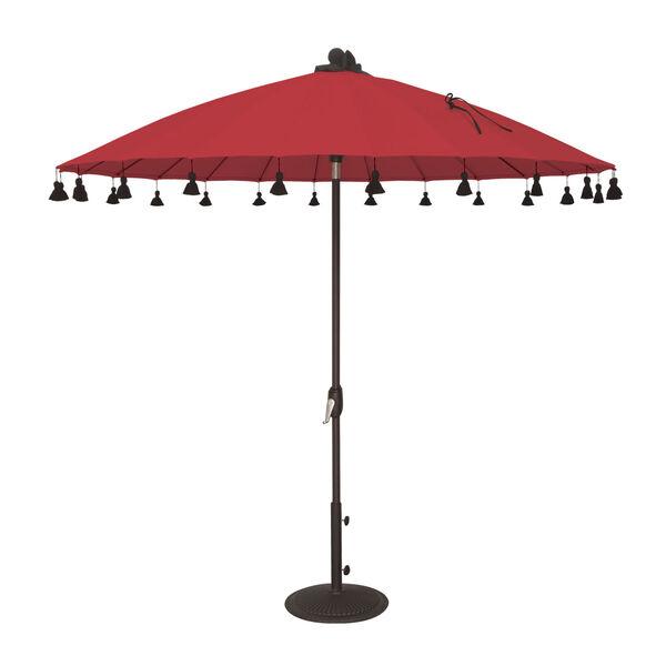 Isabela Jockey Red 8.5-Feet Round Auto Tilt Umbrella, image 1