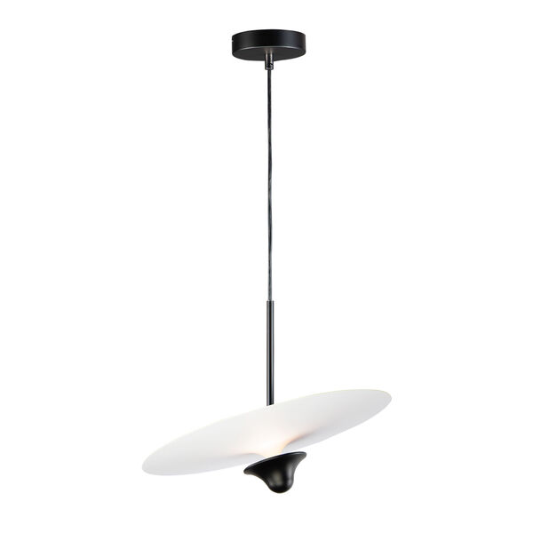 Quest White and Black One-Light LED Pendant, image 1