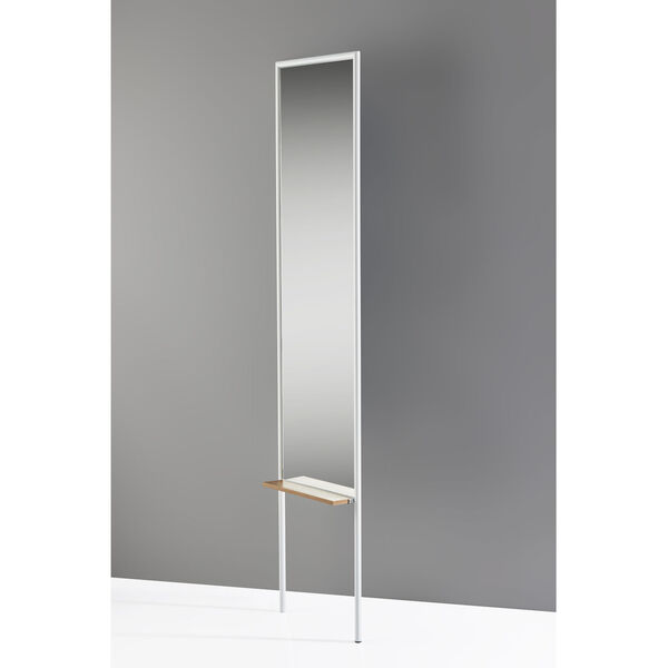 Monty White and Natural Leaning Mirror, image 3