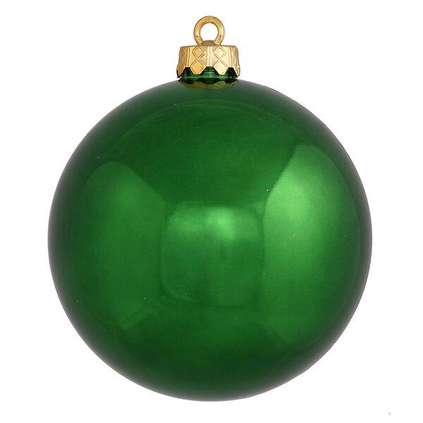 Emerald 6-Inch UV Shiny Ball Ornament, Set of Four, image 1