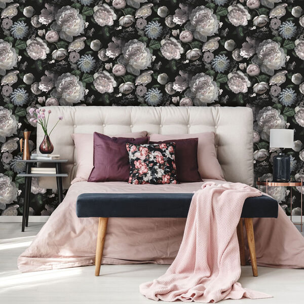 Moody Floral Removable Wallpaper, image 2