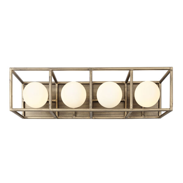 Plaza Havana Gold And Carbon Four-Light LED ADA Bath Vanity, image 5