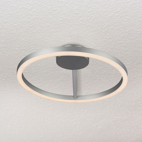 Zuben Silver LED Semi Flush Mount, image 1