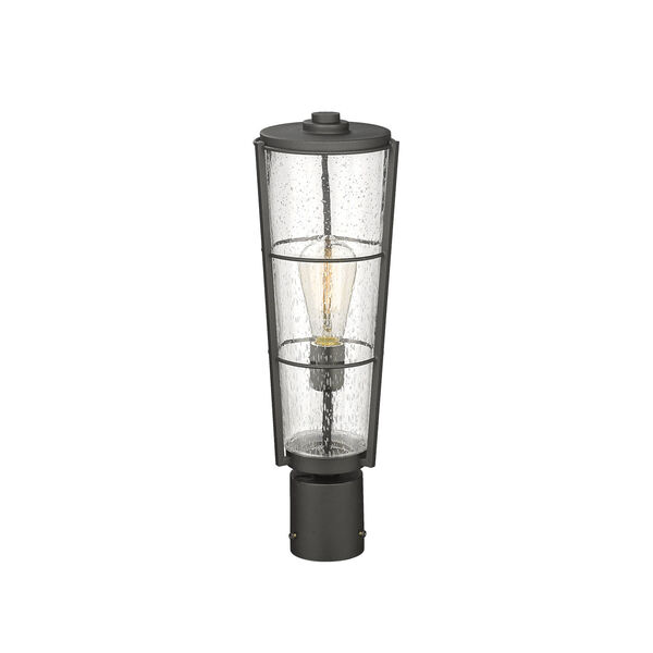Helix Black 20-Inch One-Light Outdoor Post Mount, image 2
