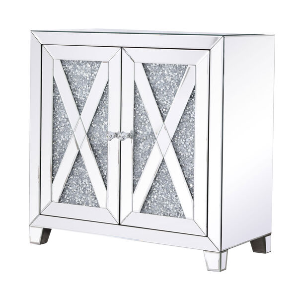Modern Silver Crystal 28-Inch Cabinet, image 5