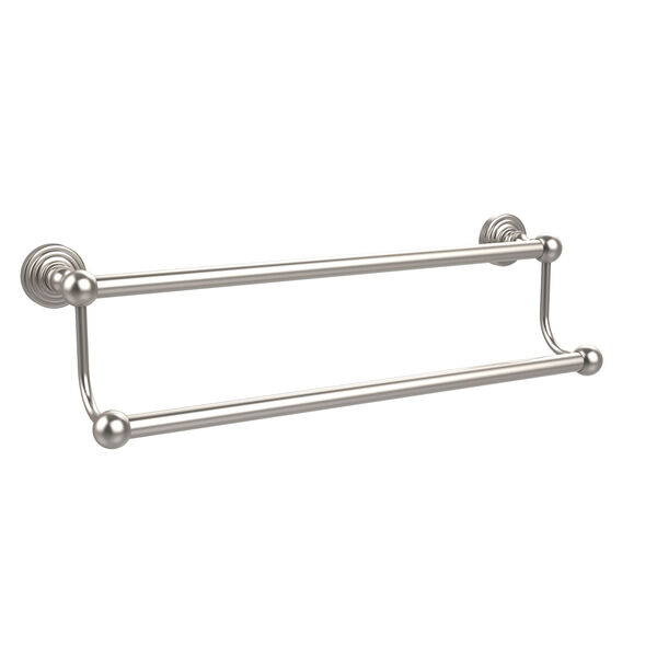 Waverly Place Collection 18 Inch Double Towel Bar, Satin Nickel, image 1