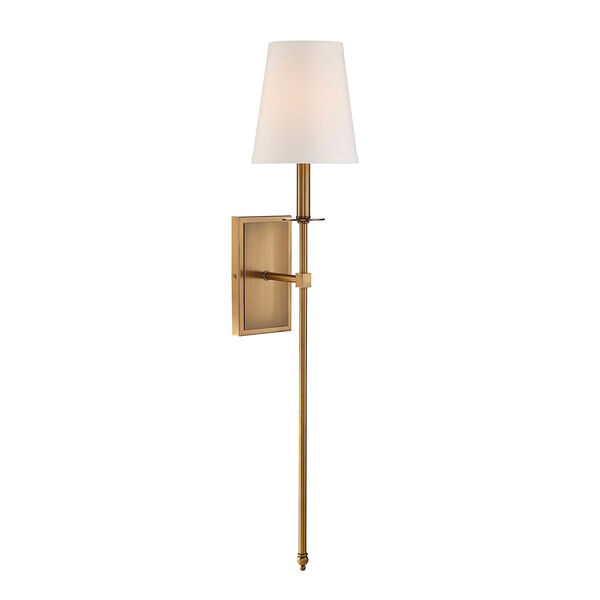 Linden Warm Brass Seven-Inch One-Light Wall Sconce, image 1