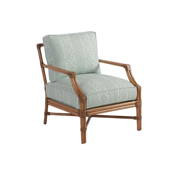 Upholstery Green and White Redondo Chair, image 1