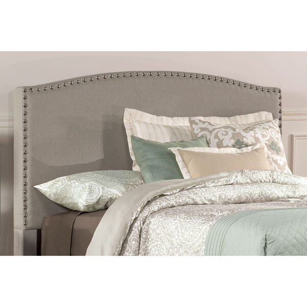 Kerstein Dove Gray Fabric King Headboard Only, image 1