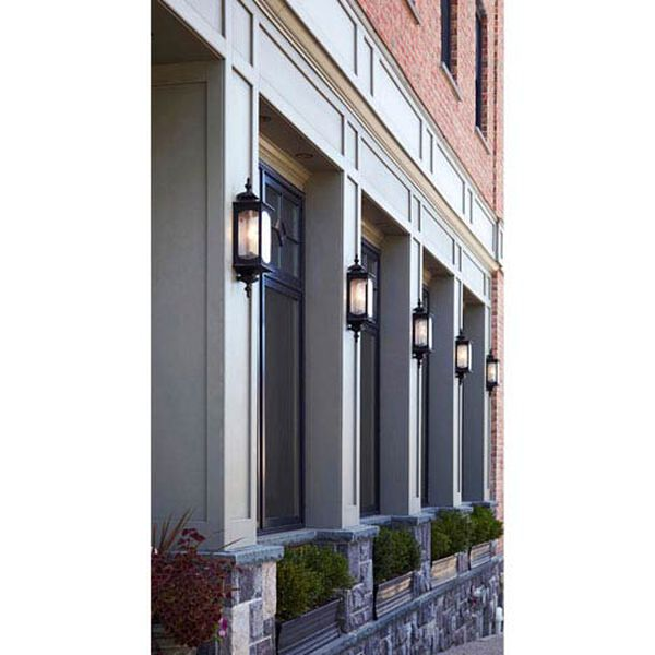 Kahler Rubbed Bronze Three-Light Outdoor Wall Mount, image 3