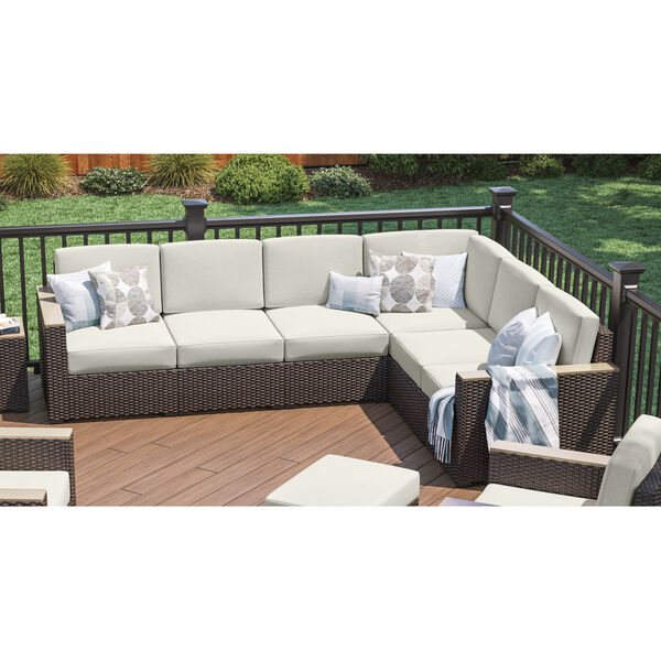 Palm Springs Brown Patio Six-Seat Sectional, image 6