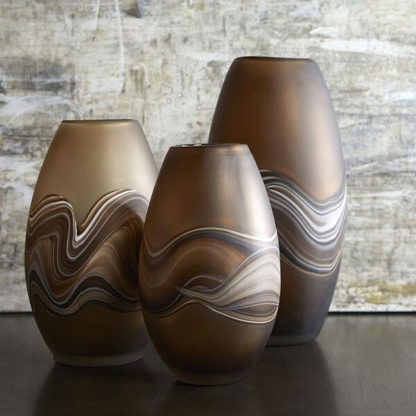 Amber Swirl 8-Inch Nina Vase, image 3