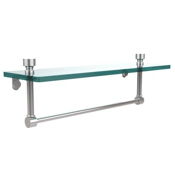 Polished Chrome Single Shelf with Towel Bar, image 1