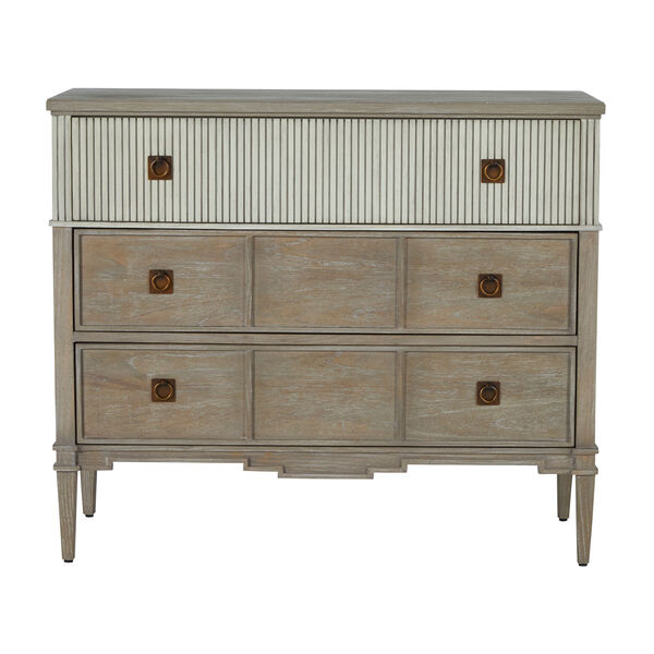 Winslet Sesame White and Cerused Gray Chest, image 3