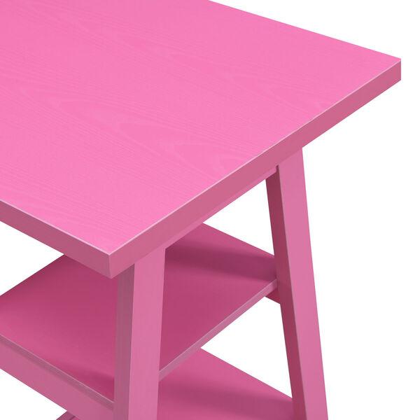 Designs2Go Pink Double Trestle Desk, image 3