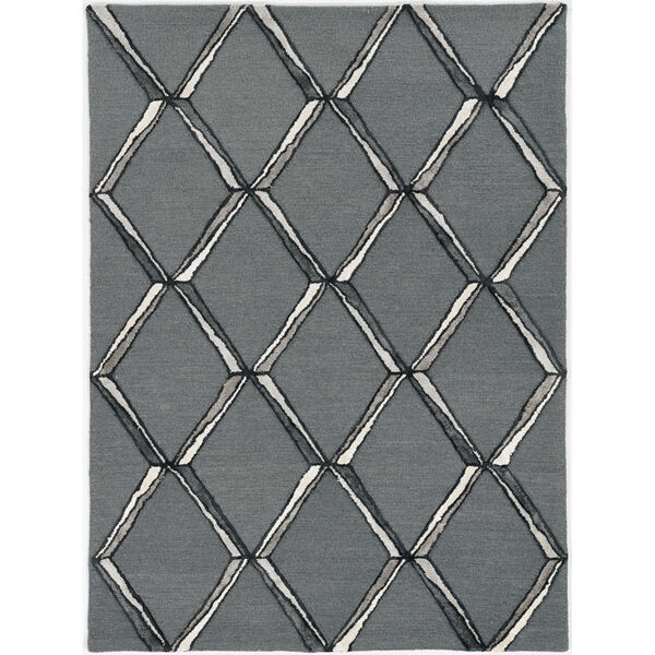 Libby Langdon Upton Charcoal and Silver Rectangular: 8 Ft. x 10 Ft. Rug, image 1
