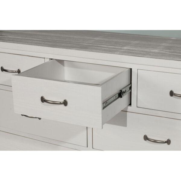 Highlands White 7 Drawer Dresser With Mirror, image 4