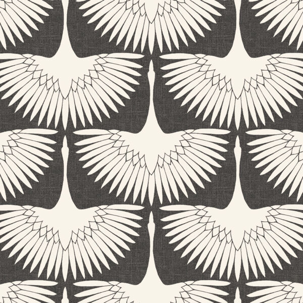 Feather Flock Storm Grey 56 Sq. Ft. Peel and Stick Wallpaper, image 2