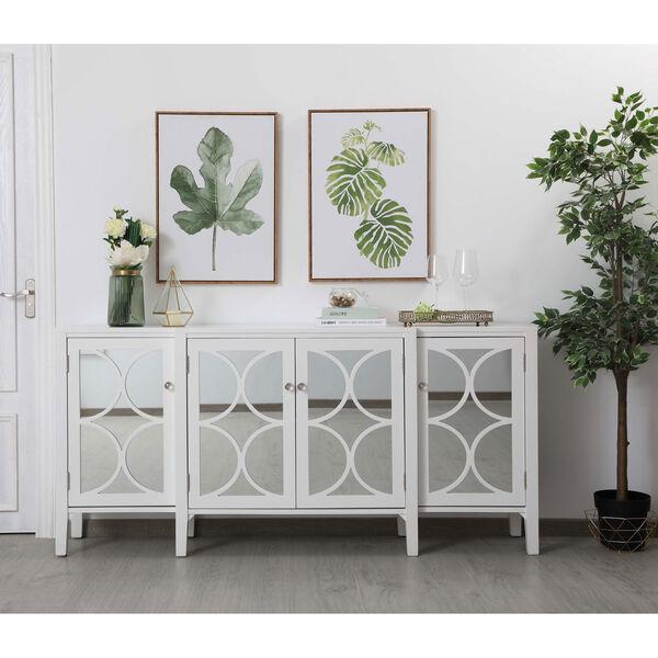 Modern White 72-Inch Sideboard, image 2