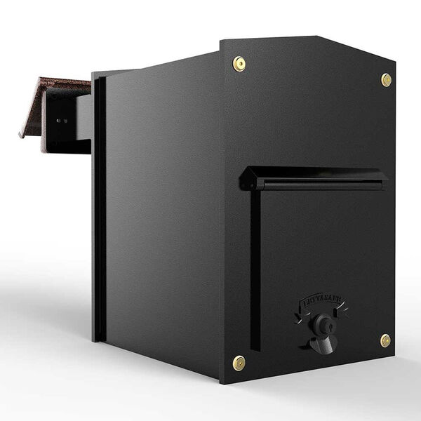 Letta safe Black 11-Inch Wall or Column Mount Mailbox, image 1