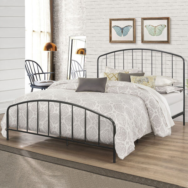 Tolland Black Metal Bed, image 1