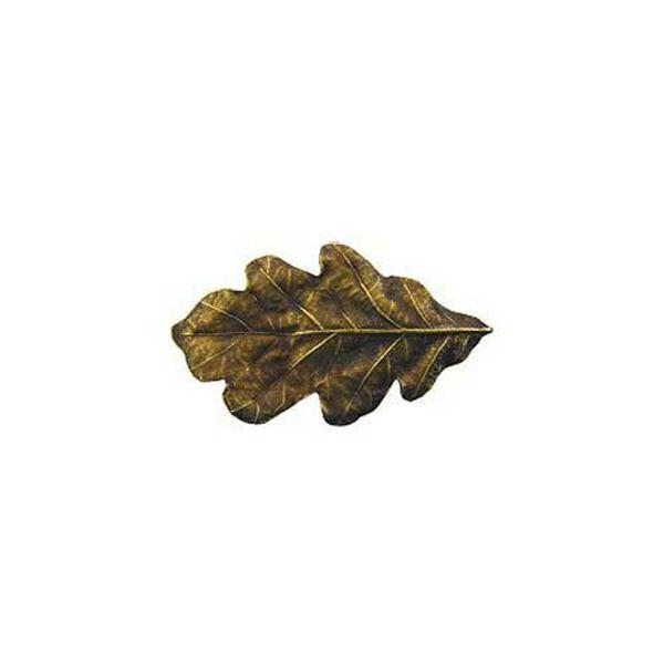 Antique Brass Oak Leaf Knob, image 1