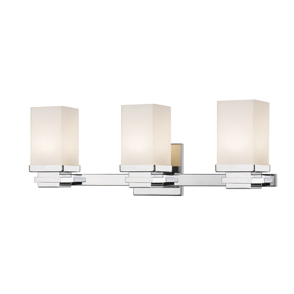 Avige Chrome Three-Light LED Vanity, image 1