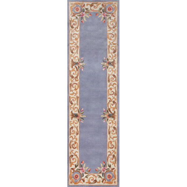 Harmony Floral Blue Rectangular: 8 Ft. x 11 Ft. Rug, image 6