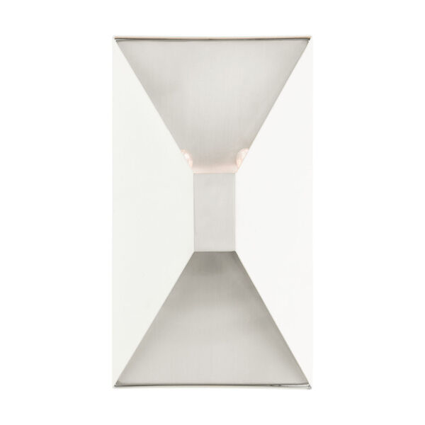 Lexford Textured White Two-Light ADA Wall Sconce, image 1