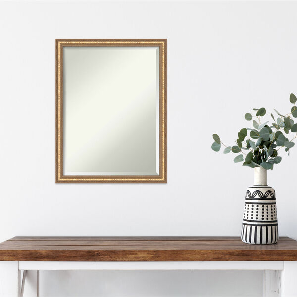 Fluted Champagne 20W X 26H-Inch Decorative Wall Mirror, image 3