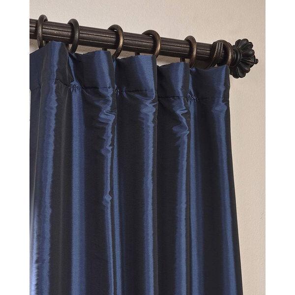 Navy Blue 84 x 50-Inch Blackout Faux Silk Taffeta Curtain Single Panel, image 2