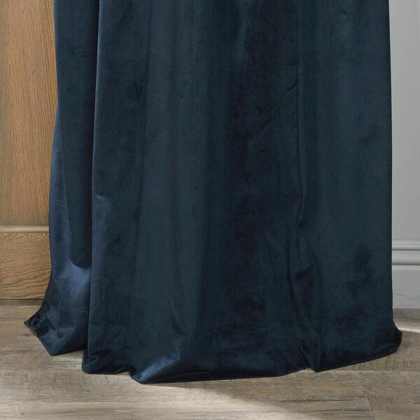 Signature Midnight Blue Blackout Velvet Pole Pocket Single Panel Curtain, 50 X 120, image 5