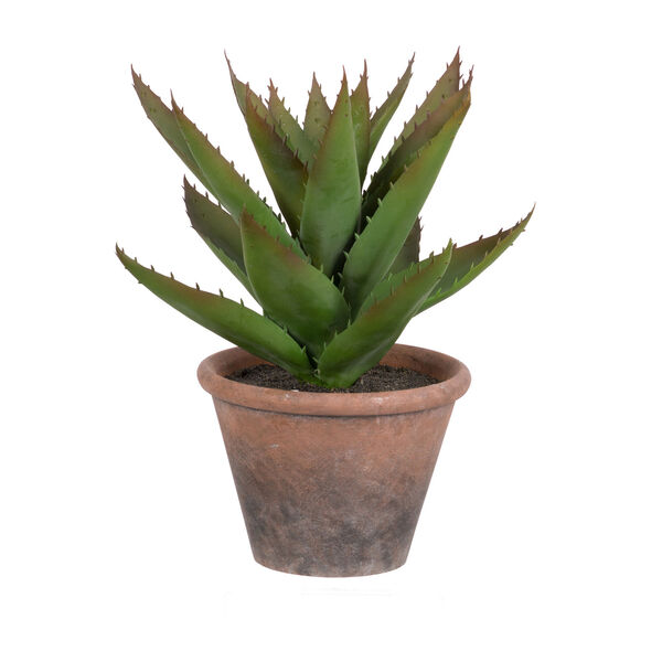 Potted Faux Black Prince Succulent, image 1