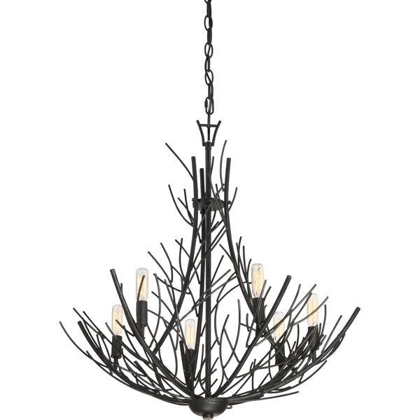 Thornhill Marcado Black Six-Light Pendant, image 4