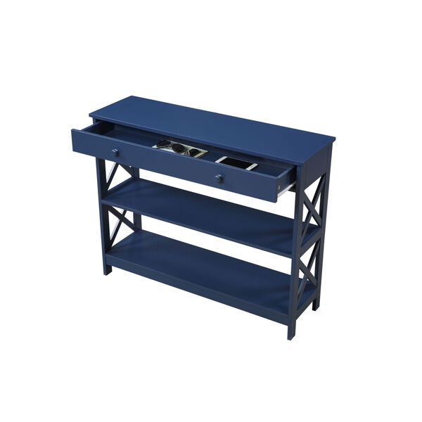 Oxford Cobalt Blue One-Drawer Console Table, image 3