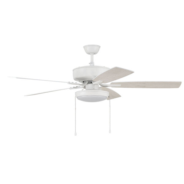 Pro Plus White 52-Inch LED Ceiling Fan with Frost Acrylic Pan Shade, image 4