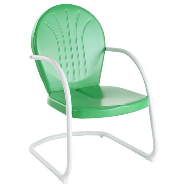 Griffith Metal Chair in Grasshopper Green Finish, image 1