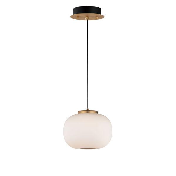 Soji Black and Gold 7-Inch Two-Light LED Mini Pendant, image 1
