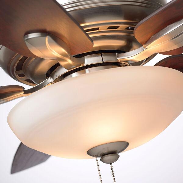Pro Series Brushed Steel Three Light Ceiling Fan, image 6