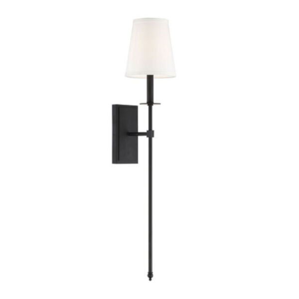 Linden Matte Black Seven-Inch One-Light Wall Sconce, image 3