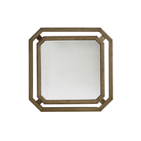 Cypress Point Antique Brass Callan Square Mirror, image 1